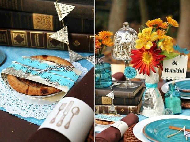 Фотография: Прочее в стиле , Цвет в интерьере, Стол, Сервировка стола, Оранжевый, Бирюзовый – фото на INMYROOM