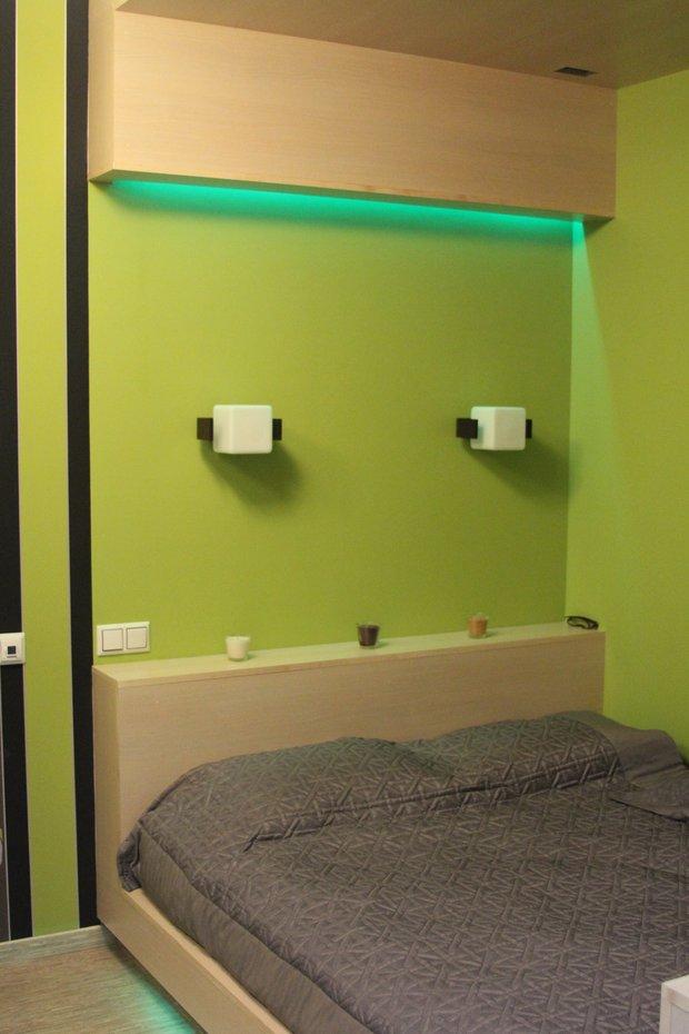 Фотография: Спальня в стиле Современный, Малогабаритная квартира, Квартира, Цвет в интерьере, Дома и квартиры, Белый – фото на INMYROOM