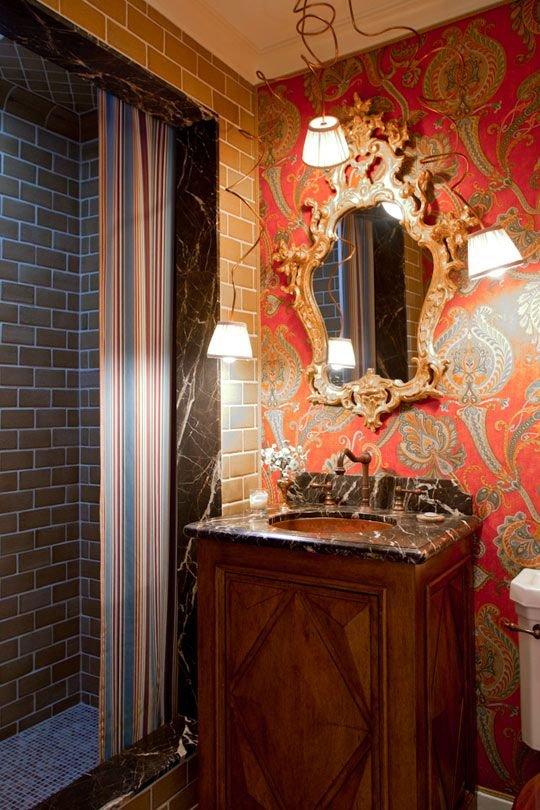 Фотография: Ванная в стиле Прованс и Кантри, Современный, Эклектика, Декор интерьера, Декор дома, Ковер – фото на INMYROOM