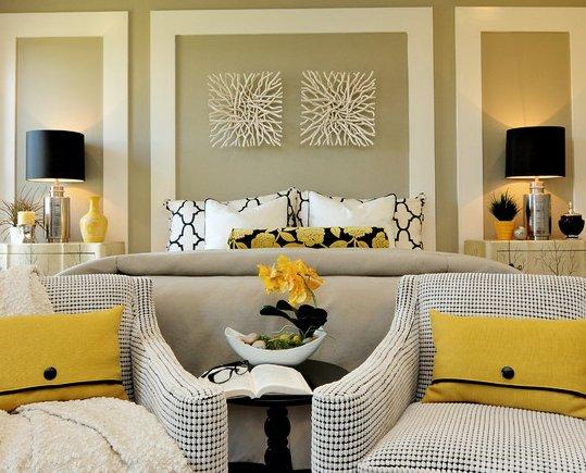 Фотография: Спальня в стиле Классический, Современный, Декор интерьера, Декор дома, Цвет в интерьере, Обои – фото на INMYROOM