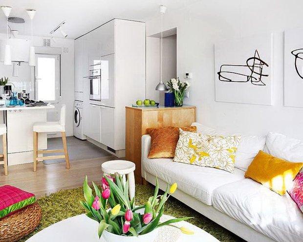 Фотография: Гостиная в стиле Скандинавский, Современный, Дизайн интерьера – фото на INMYROOM
