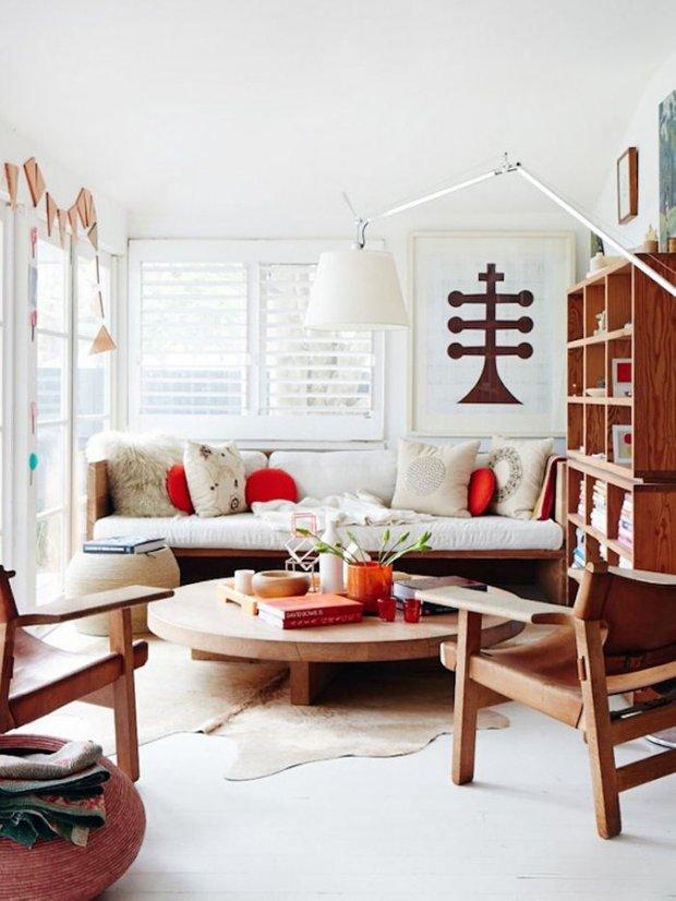 Фотография: Гостиная в стиле Восточный, Эко, Малогабаритная квартира, Интерьер комнат – фото на INMYROOM