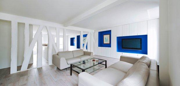 Фотография: Гостиная в стиле Современный, Квартира, Франция, Мебель и свет, Дома и квартиры, Париж – фото на INMYROOM