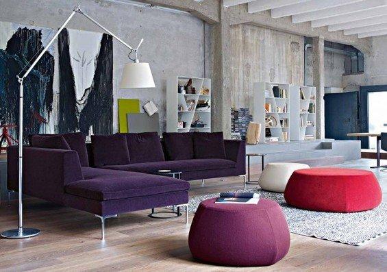 Фотография: Гостиная в стиле Лофт, Квартира, Цвет в интерьере, Дома и квартиры, B&B Italia – фото на INMYROOM