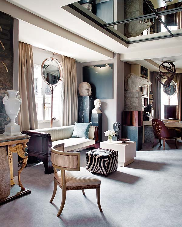 Фотография: Гостиная в стиле Эклектика, Интерьер комнат, Картины, Зеркало – фото на INMYROOM
