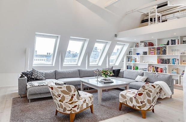 Фотография: Гостиная в стиле Скандинавский, Квартира, Мебель и свет, Дома и квартиры – фото на INMYROOM