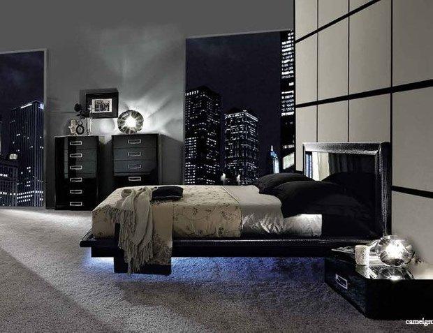 Фотография: Спальня в стиле Хай-тек, Декор интерьера, Декор, Мебель и свет, освещение – фото на INMYROOM