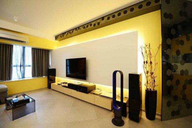 Фотография: Гостиная в стиле Современный, Декор интерьера, Дизайн интерьера, Цвет в интерьере, Желтый – фото на INMYROOM