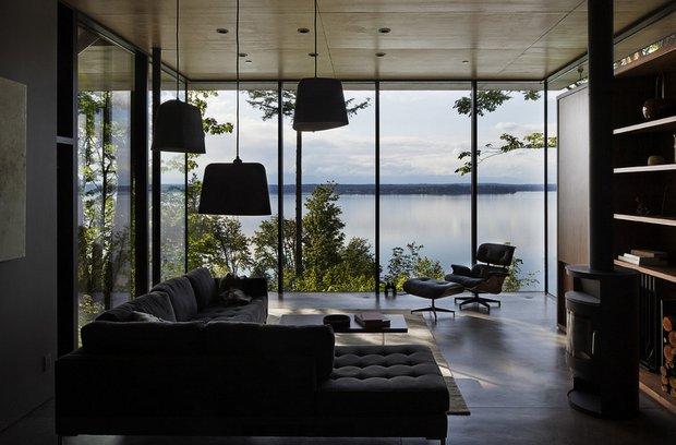 Фотография: Гостиная в стиле Лофт, Дом, Архитектура, Ландшафт, Минимализм, Эко – фото на INMYROOM