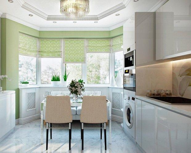 Фотография: Кухня и столовая в стиле Современный, Советы, Зеленый – фото на INMYROOM