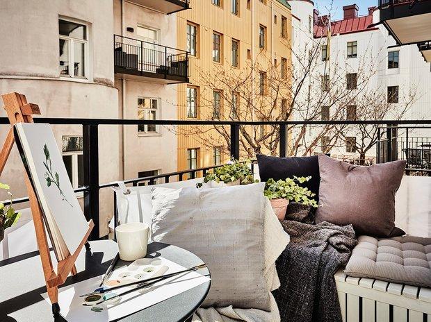 Фотография: Балкон в стиле Скандинавский, Квартира, Советы – фото на INMYROOM