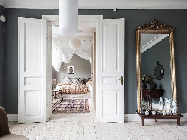 Фотография: Спальня в стиле Скандинавский, Современный, Декор интерьера, Белый, Серый – фото на INMYROOM