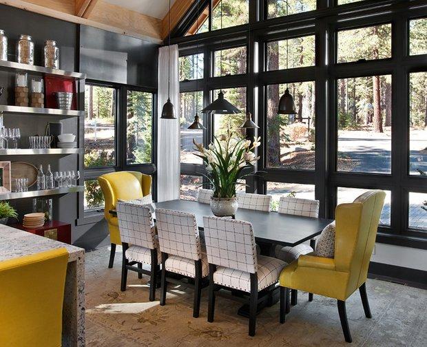 Фотография: Кухня и столовая в стиле Современный, Эклектика, Дом, Дома и квартиры, Проект недели, Дача – фото на INMYROOM