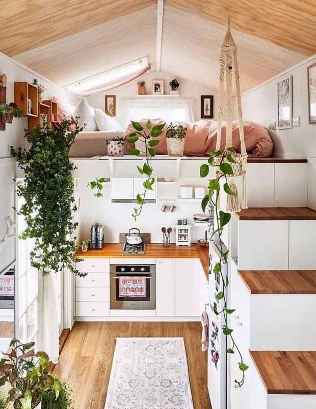 Фотография: Кухня и столовая в стиле Скандинавский, Дом, Австралия, Дом и дача, 2 комнаты, до 40 метров – фото на INMYROOM