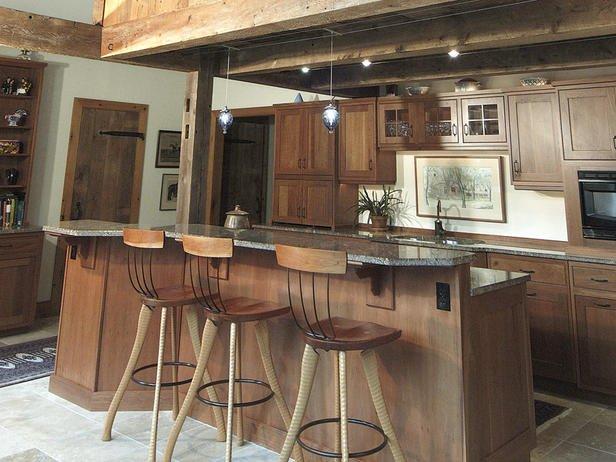 Фотография: Кухня и столовая в стиле Прованс и Кантри, Интерьер комнат, Барная стойка – фото на INMYROOM