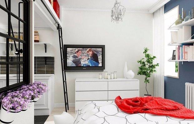 Фотография: Спальня в стиле Скандинавский, как сэкономить, сэкономить на покупке квартиры, как сэкономить на покупке квартиры, сэкономить на ремонте, как экономить воду, экономия, #каксэкономить, как сэкономить на ремонте, как сэкономить электричество – фото на INMYROOM