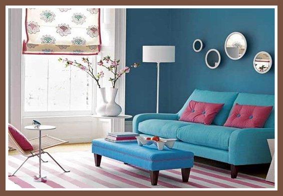 Фотография: Гостиная в стиле Скандинавский, Декор интерьера, Дизайн интерьера, Мебель и свет, Цвет в интерьере, Стены, Розовый, Фуксия – фото на InMyRoom.ru