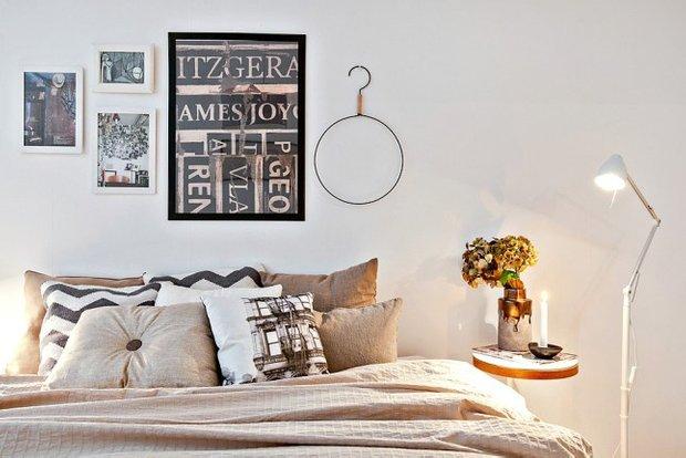 Фотография: Спальня в стиле Скандинавский, Декор интерьера, Квартира, Аксессуары, Декор, Белый – фото на INMYROOM