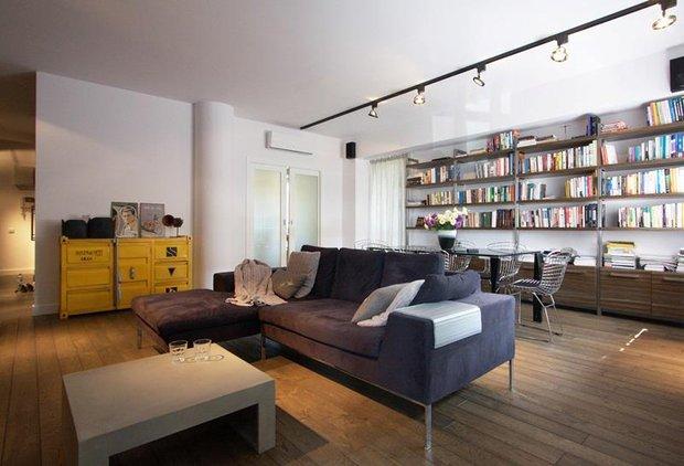 Фотография: Гостиная в стиле Современный, Лофт, Квартира, Дома и квартиры, Индустриальный, Польша – фото на INMYROOM