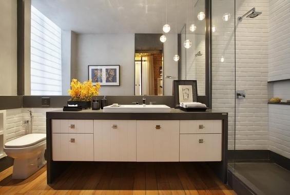 Фотография: Ванная в стиле Современный, Лофт, Квартира, Дома и квартиры, Стеллаж, Барная стойка – фото на INMYROOM