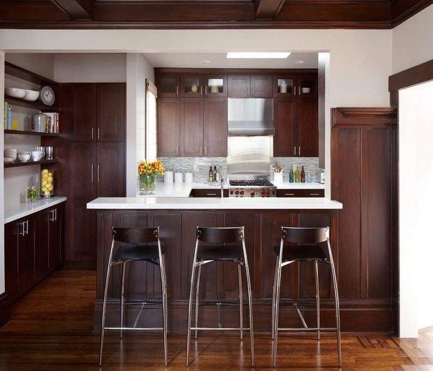 Фотография: Прихожая в стиле Скандинавский, Кухня и столовая, Гостиная, Декор интерьера, Квартира, Студия, Дом, барная стойка на кухне, кухня-гостиная с барной стойкой – фото на INMYROOM