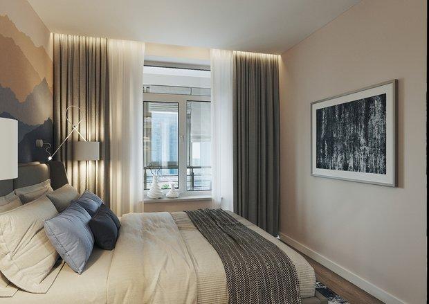 Фотография: Спальня в стиле Современный, Квартира, Перепланировка, 2 комнаты, 40-60 метров, Наталья Мукасьян – фото на INMYROOM