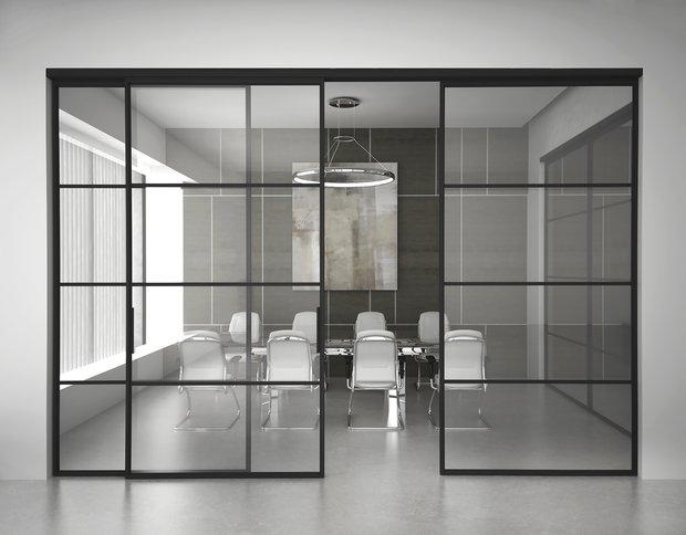Фотография: Офис в стиле Современный, Минимализм, Гид, Зонирование, Union, раздвижные перегородки, зонирование с помощью перегородок – фото на INMYROOM