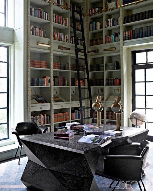 Фотография:  в стиле Современный, Эклектика, Системы хранения, Библиотека, Домашняя библиотека – фото на INMYROOM
