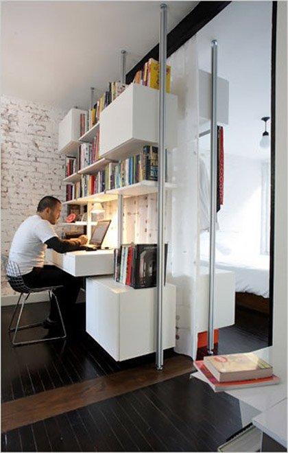 Фотография: Офис в стиле Лофт, Современный, Декор интерьера, Дом, Декор дома, Системы хранения, Шторы – фото на INMYROOM