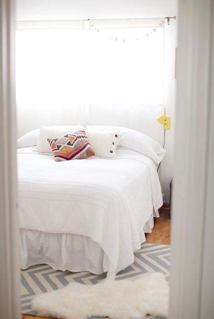 Фотография: Спальня в стиле Скандинавский, Малогабаритная квартира, Квартира, Дома и квартиры – фото на INMYROOM
