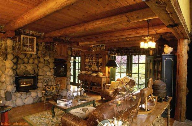 Фотография: Гостиная в стиле Прованс и Кантри, Декор интерьера, Мебель и свет, Деревенский – фото на INMYROOM