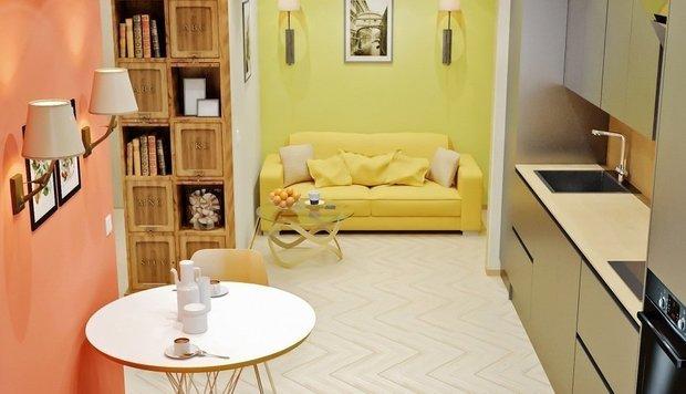 Фотография: Кухня и столовая в стиле Современный, Малогабаритная квартира, Дома и квартиры – фото на INMYROOM