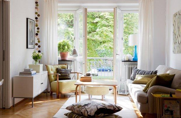 Фотография: Гостиная в стиле Скандинавский, Советы, Est-a-tet, купить квартиру в новостройке, покупка квартиры, сэкономить на покупке квартиры, как сэкономить на покупке квартиры – фото на INMYROOM