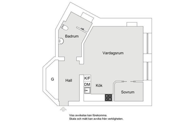 Фотография: Планировки в стиле , Скандинавский, Квартира, Советы, 40-60 метров – фото на INMYROOM
