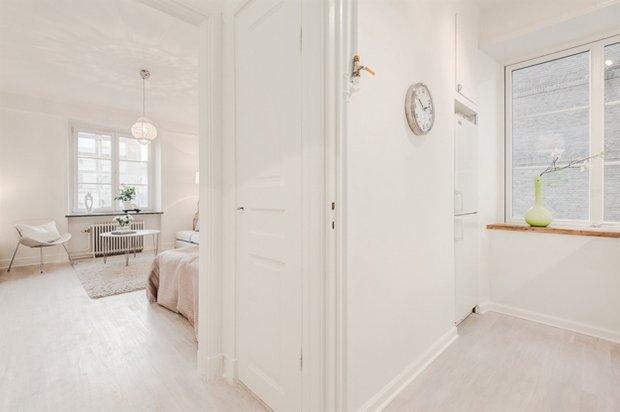 Фотография: Прихожая в стиле Скандинавский, Малогабаритная квартира, Квартира, Дома и квартиры, Стокгольм – фото на InMyRoom.ru