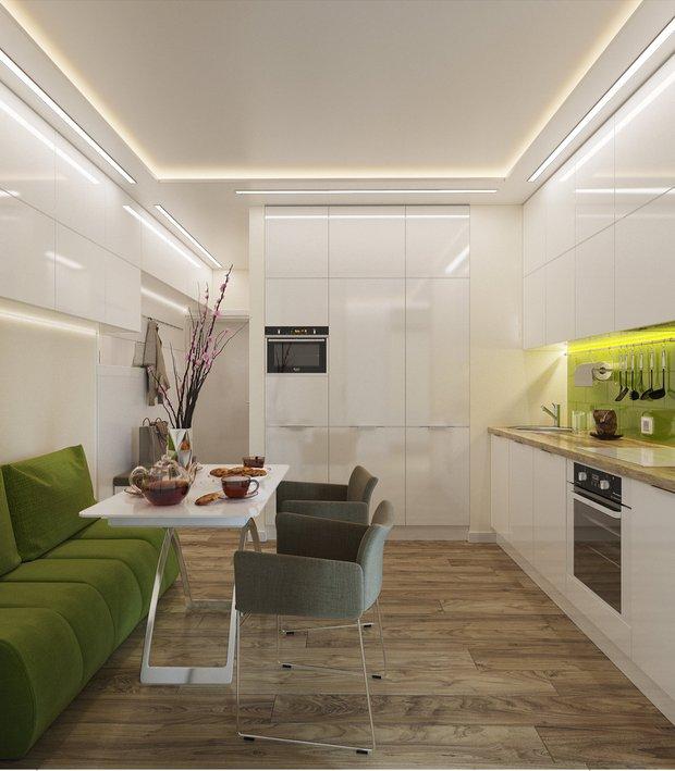 Фотография: Кухня и столовая в стиле Современный, Малогабаритная квартира, Советы, Kronospan – фото на INMYROOM