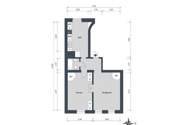 Фотография: Прочее в стиле , Скандинавский, Малогабаритная квартира, Квартира, Швеция, Цвет в интерьере, Дома и квартиры, Белый – фото на INMYROOM