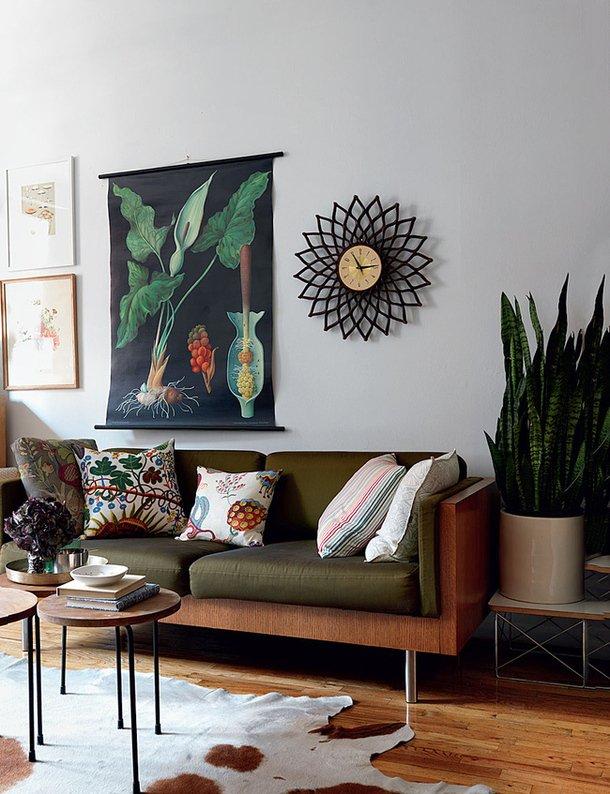 Фотография: Гостиная в стиле Современный, Декор интерьера, Малогабаритная квартира, Квартира, Дома и квартиры, Нью-Йорк, Блошиный рынок – фото на InMyRoom.ru