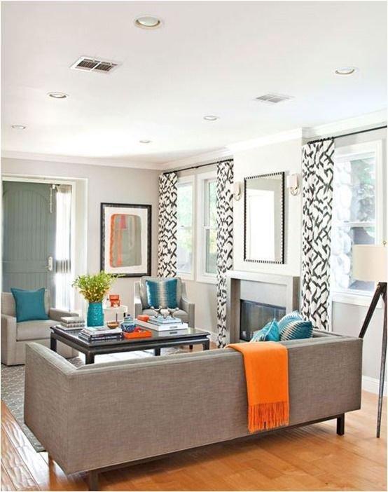 Фотография: Гостиная в стиле Прованс и Кантри, Декор интерьера, Дизайн интерьера, Цвет в интерьере, Белый, Синий, Серый – фото на INMYROOM