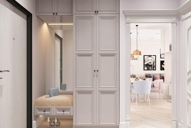 Фотография: Прихожая в стиле Современный, Малогабаритная квартира, Гид, энциклодпедия_малогабаритка – фото на INMYROOM