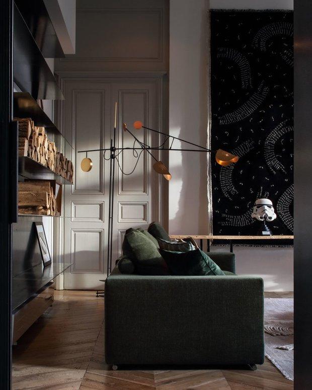 Фотография: Гостиная в стиле Современный, Эклектика, Декор интерьера, Франция, Зеленый, Желтый, Коричневый, Лион, Клод Картье – фото на INMYROOM