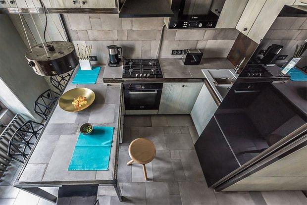 Фотография: Кухня и столовая в стиле Современный, Хай-тек, Интерьер комнат, Переделка, Индустриальный – фото на INMYROOM