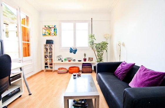 Фотография: Гостиная в стиле Скандинавский, Современный, Квартира, Дома и квартиры, Барселона – фото на INMYROOM