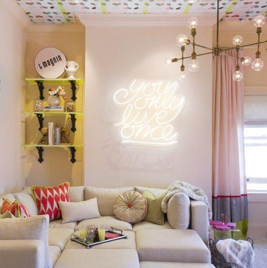Фотография: Гостиная в стиле Современный, Декор интерьера, DIY, Освещение, Декор, Мебель и свет, Светильник – фото на INMYROOM