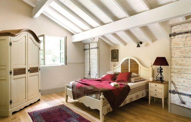 Фотография: Спальня в стиле Прованс и Кантри, Современный, Цвет в интерьере – фото на INMYROOM
