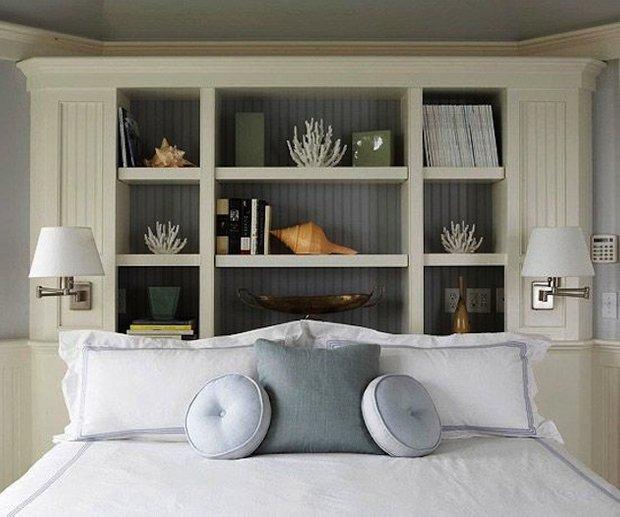 Фотография: Спальня в стиле Скандинавский, Декор интерьера, Декор дома, Стеллаж, Полки, Домашняя библиотека – фото на INMYROOM