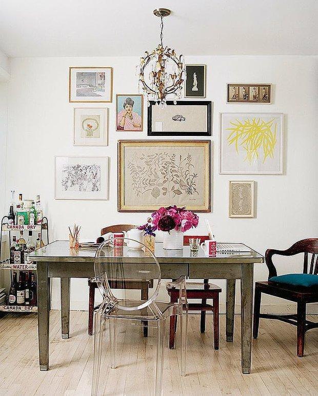 Фотография: Кухня и столовая в стиле Эклектика, Декор интерьера, Советы, стекло в интерьере, пластик в интерьере, интерьерный тренд, тенденция – фото на INMYROOM