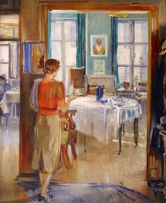 Пименов Юрий Иванович (Россия, 1903 - 1977) «В комнатах»