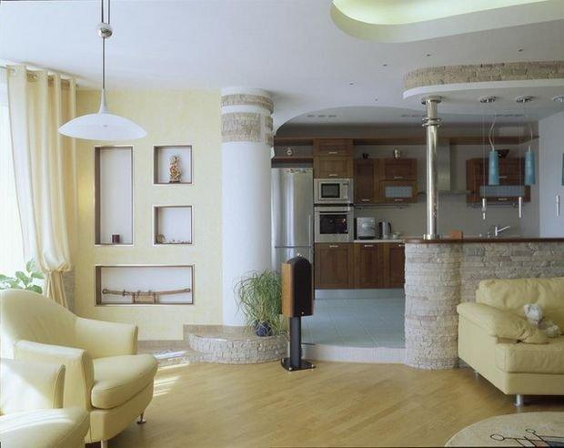 Фотография: Кухня и столовая в стиле Прованс и Кантри, Гостиная, Декор интерьера, Квартира, Студия, Дом, барная стойка на кухне, кухня-гостиная с барной стойкой – фото на INMYROOM