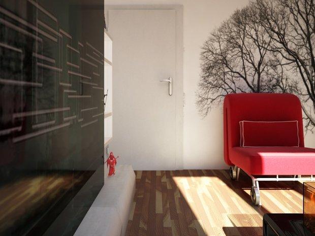 Фотография: Гостиная в стиле Скандинавский, Малогабаритная квартира, Квартира, Дома и квартиры, IKEA, Ремонт, П-111М – фото на INMYROOM